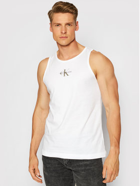 Calvin Klein Jeans Calvin Klein Jeans Tank top Essentials J30J318512 Alb Slim Fit