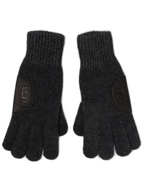 Ugg Ugg Gants homme M Knit Glove W Ugg Lthr Patch 18720 Gris
