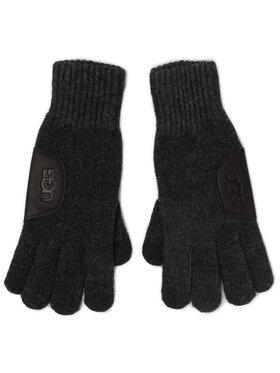 Ugg Ugg Guanti da uomo M Knit Glove W Ugg Lthr Patch 18720 Grigio
