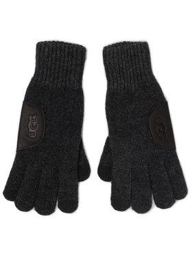 Ugg Ugg Pánské rukavice M Knit Glove W Ugg Lthr Patch 18720 Šedá