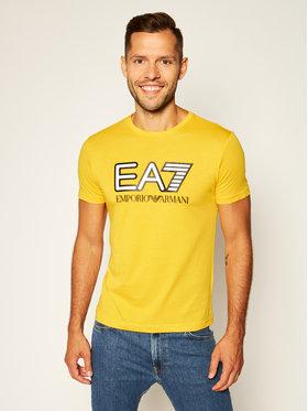 EA7 Emporio Armani EA7 Emporio Armani T-Shirt 6HPT81 PJM9Z 1603 Žlutá Regular Fit