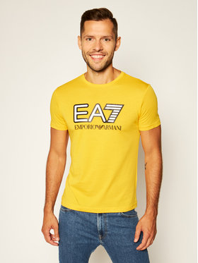 EA7 Emporio Armani EA7 Emporio Armani T-Shirt 6HPT81 PJM9Z 1603 Żółty Regular Fit