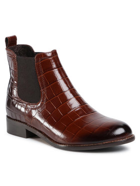 Gino Rossi Gino Rossi Kotníková obuv s elastickým prvkem 4768-04 Hnědá