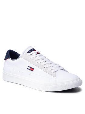 Tommy Jeans Tommy Jeans Sneakersy Retro Vulc Tjm Leather EM0EM00804 Biela