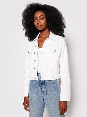 Calvin Klein Jeans Calvin Klein Jeans Kurtka jeansowa J20J217158 Biały Cropped Fit