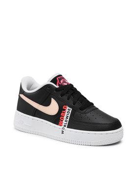 Nike Nike Обувки Air Force 1 Lv8 1 (Gs) CN8536 001 Черен