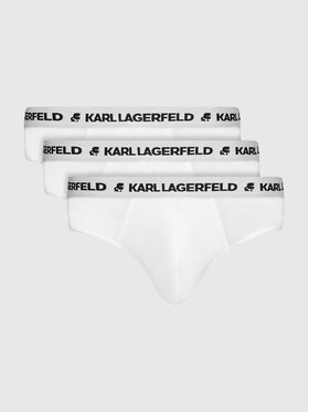 KARL LAGERFELD KARL LAGERFELD Komplet 3 par slipów Logo 211M2103 Biały