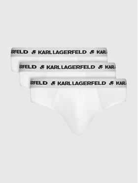 KARL LAGERFELD KARL LAGERFELD Set 3 perechi de slipuri Logo 211M2103 Alb
