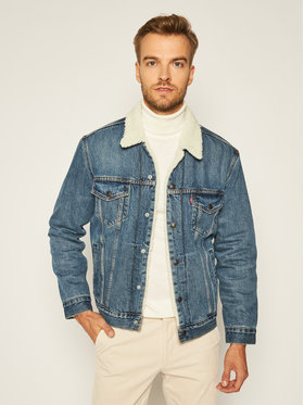 Levi's® Levi's® Farmer kabát Type III Sherpa Trucker 16365-0128 Kék Regular Fit