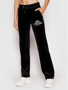 Juicy Couture Juicy Couture Долнище анцуг Crest JCWB121089 Черен Regular Fit