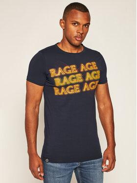 Rage Age Rage Age Póló Heat Sötétkék Slim Fit