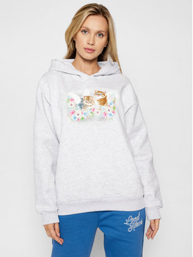 Local Heroes Local Heroes Bluză Angels Kittens AW21S0004 Gri Regular Fit