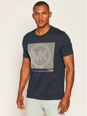MICHAEL Michael Kors MICHAEL Michael Kors T-Shirt Logo Graphic CU05JK7FV4 Granatowy Regular Fit