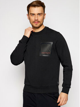 Calvin Klein Calvin Klein Bluză Mesh Pocket K10K106538 Negru Regular Fit