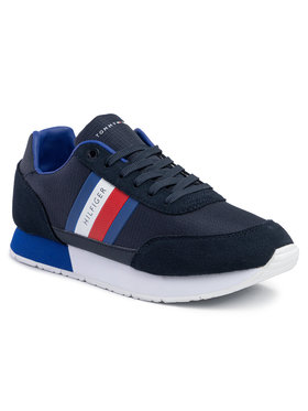 TOMMY HILFIGER TOMMY HILFIGER Laisvalaikio batai Corporate Mix Flag Runner FM0FM02601 Tamsiai mėlyna