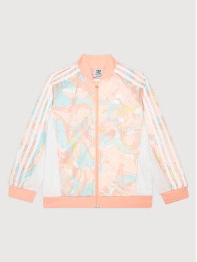 adidas adidas Bluza Marble Print SST H22634 Różowy Regular Fit