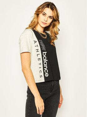 New Balance New Balance T-Shirt Blocked Grx T WT01506 Czarny Relaxed Fit
