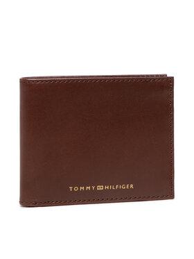 Tommy Hilfiger Tommy Hilfiger Duży Portfel Męski Casual Leather Mini Cc Wallet AM0AM07813 Brązowy
