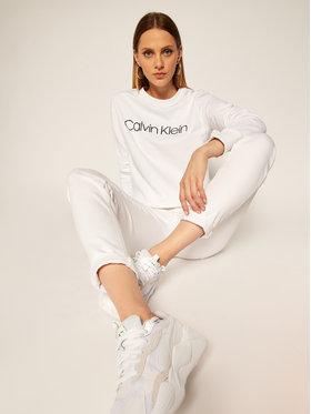 Calvin Klein Calvin Klein Majica dugih rukava Core Logo K20K202157 Bijela Regular Fit