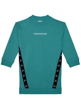 Calvin Klein Jeans Calvin Klein Jeans Sukienka codzienna Monogram Tape IG0IG00710 Niebieski Regular Fit