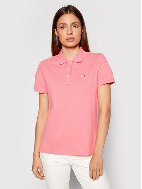 Tommy Jeans Tommy Jeans Тениска с яка и копчета Polo Tjw DW0DW09199 Розов Slim Fit