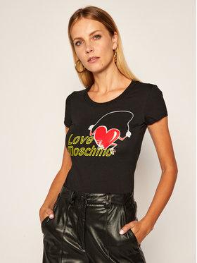 LOVE MOSCHINO LOVE MOSCHINO Póló W4B195NE 1951 Fekete Slim Fit
