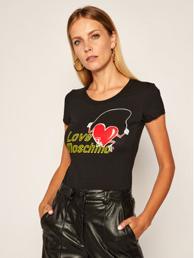 LOVE MOSCHINO LOVE MOSCHINO T-Shirt W4B195NE 1951 Černá Slim Fit