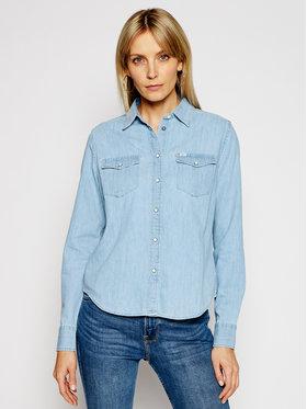 Lee Lee džínsová košeľa Western L45SZSNJ Modrá Regular Fit