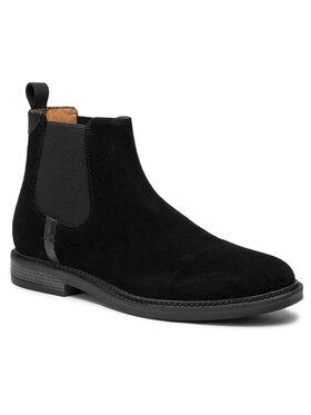 Gino Rossi Gino Rossi Kotníková obuv s elastickým prvkem MI08-C641-639-05 Černá