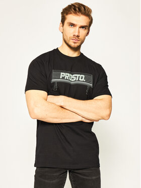 PROSTO. PROSTO. T-Shirt KLASYK Bench 8609 Schwarz Regular Fit