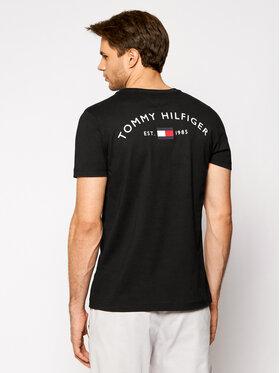 Tommy Hilfiger Tommy Hilfiger Tricou Back Logo Tee MW0MW17681 Negru Regular Fit