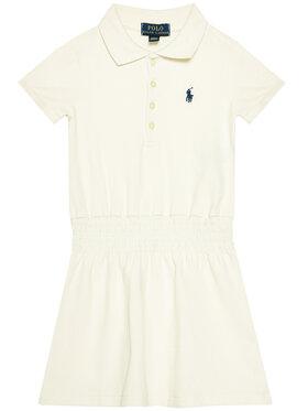 Polo Ralph Lauren Polo Ralph Lauren Kasdieninė suknelė Smock Polo 312785479002 Balta Slim Fit
