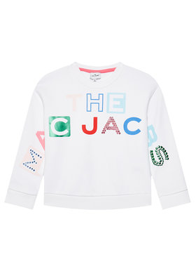 Little Marc Jacobs Little Marc Jacobs Bluză W15546 D Alb Regular Fit