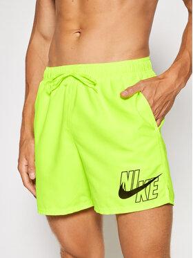 Nike Nike Szorty kąpielowe Logo Lap 5 NESSA566 Żółty Standard Fit