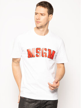 MSGM MSGM T-shirt 2840MM86 207098 Bianco Regular Fit