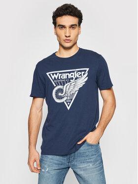 Wrangler Wrangler T-shirt Americana Tee W7J6D3114 Blu scuro Regular Fit