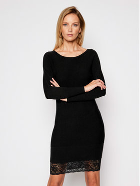 Guess Guess Úpletové šaty W0BK1I Z2QT0 Černá Regular Fit