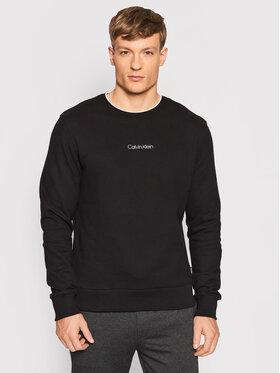 Calvin Klein Calvin Klein Суитшърт Center Logo K10K107895 Черен Regular Fit