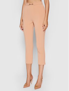 Elisabetta Franchi Elisabetta Franchi Kalhoty z materiálu PA-384-16E2-V200 Růžová Slim Fit