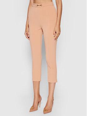 Elisabetta Franchi Elisabetta Franchi Medžiaginės kelnės PA-384-16E2-V200 Rožinė Slim Fit
