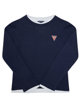 Guess Guess Пуловер L0BR03 Z2HH0 Тъмносин Regular Fit