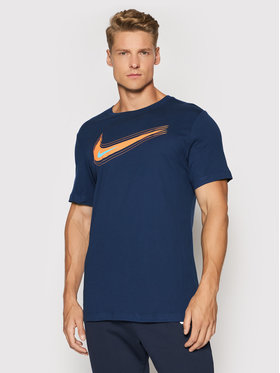 Nike Nike Marškinėliai Nsw Swoosh DB6470 Tamsiai mėlyna Standard Fit