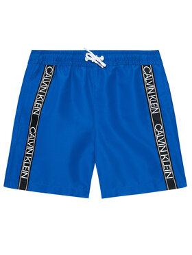 Calvin Klein Swimwear Calvin Klein Swimwear Plavecké šortky Logo Tape B70B700301 Modrá Regular Fit