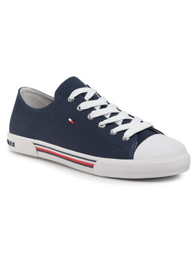 Tommy Hilfiger Tommy Hilfiger Plátenky Low Cut Lace-Up Sneaker T3X4-30692-0890 D Tmavomodrá