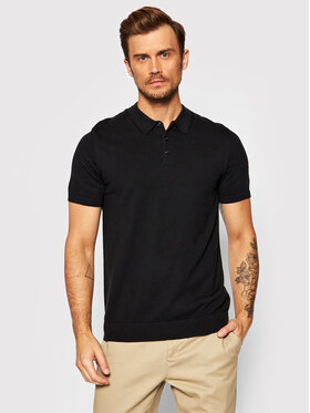Selected Homme Selected Homme Polo Berg 16074685 Czarny Regular Fit