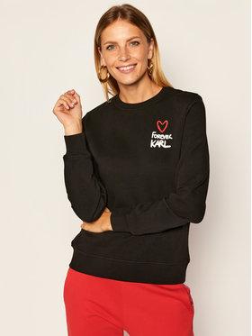 KARL LAGERFELD KARL LAGERFELD Sweatshirt Forever 205W1810 Schwarz Regular Fit