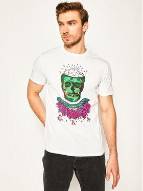 Just Cavalli Just Cavalli T-Shirt S03GC0600 Biały Regular Fit