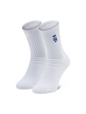 PLNY Textylia PLNY Textylia Κάλτσες Ψηλές Ανδρικές Crown PT-AK-SK-00055 Λευκό