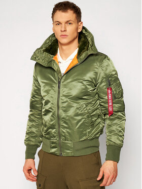 Alpha Industries Alpha Industries Пухено яке Ma-1 158104 Зелен Regular Fit