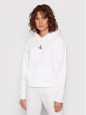 Calvin Klein Jeans Calvin Klein Jeans Bluza J20J216232 Biały Cropped Fit